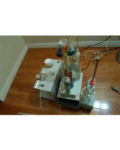 Metrohm dosimat 665 pipet diste dispense stand Brinkmann 649 stand glass
