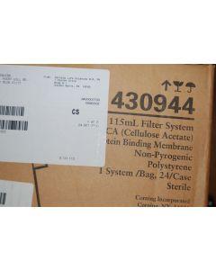 New Corning 115 ml filter system 430944 sterile 22 um filtering CA