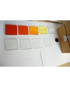 schoeffel glass Filter set 345 370 418 380 470 580 550 Optical Glass
